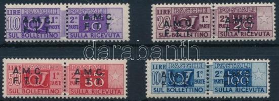 Csomagbélyeg 4 klf pár Parcel stamp 4 diff pairs