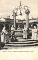Firenze, Florence; Dintorni, Il Pozzo nel Chiostro Grande della Certosa / monastery well