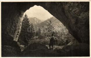 1937 Szinyelipóc, Lipovce; Lipóci-völgy, barlang / valley, cave, photo