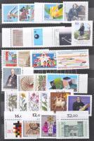 NSZK 340 db bélyeg, közte sorok, önálló értékek, blokkok, néhány többpéldány 6 lapos közepes berakóban (Mi EUR ~400,-)