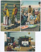 3 db RÉGI folklór lap Oroszországból / 3 old Russian folklore postcards