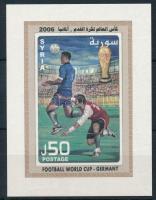 Football World Cup, Germany imperf block, Labdarúgó világbajnokság, Németország vágott blokk