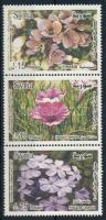 International flower exhibition set in stripe of 3, Nemzetközi virágkiállítás sor hármascsíkban