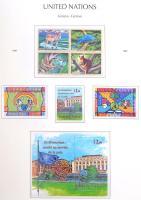 ENSZ Genf csaknem teljes gyűjtemény 1979-2007 Leuchtturm falcmentes előnyomott albumban