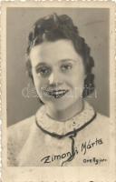 Zimonyi Márta színésznő, Orelly fotó