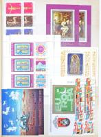 Párhuzamosan gyűjtött postatiszta és bélyegzett gyűjtemény 1977-1988 jobb kiadásokkal, teljes ívekkel 20 lapos Abria rugós berakóban. Magas katalógus érték!!