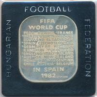 1982. MLSZ / FIFA Világbajnokság Spanyolországban Ag emlékérem eredeti tokban (35g/0.925/35x40mm) T:2(PP)