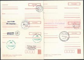 1979-1989 11 db különböző Postaszolgálati levelezőlap, használatlanok ill. bélyegezetttek