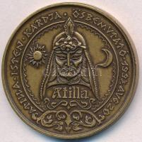 1993. Atilla Isten Kardja Ősbemutató 1993. Aug. 20. bronzozott Cu emlékérem műanyag tokban tanúsítvánnyal (42,5mm) T:1