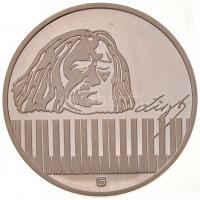Fülöp Zoltán (1951-) 1986. 175 éve született Doborjánban Liszt Ferenc - 100 éve nyugszik a bayreuthi temetőben Ag emlékérem tanúsítvánnyal APV tokban (12g/0,925/32mm) T:1-(PP)