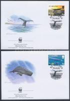WWF Whale set 4 FDC, WWF: Bálna sor 4 db FDC-n