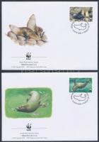WWF Fur seals set 4 FDC WWF: Medvefóka sor 4 db FDC-n