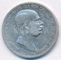 Ausztria 1908. 1K Ag Ferenc József - Jubileum T:2,3 korrózió Austria 1908. 1K Ag Franz Joseph - Jubilee C:XF,F corrosion Krause KM#2808