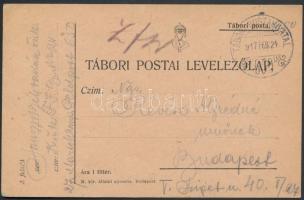 1917 Tábori posta levelezőlap TP 650