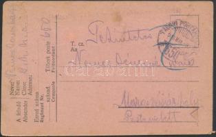 1918 Tábori posta levelezőlap TP 650