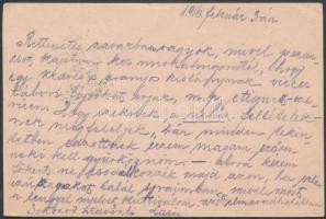 1916 Tábori posta levelezőlap HONVÉD GYALOG EZRED I. ZÁSZLÓALJ + HP 132