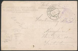 1915 Tábori posta képeslap K.u.k. 6. CORPS COMMANDO + HP 22