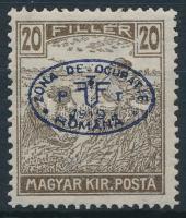 Debrecen I. 1919 Arató 20f hármaslyukasztással, a katalógusban nem szerepel, garancia nélkül (**45.000+)