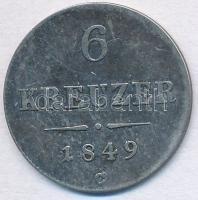 Ausztria 1849C 6kr Ag T:2-,3 Austria 1849C 6 Kreuzer Ag C:VF,F  Krause KM#2200