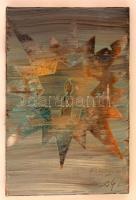 Rubint Ávrahám Péter (1958-): Boldog karácsonyt III. Olaj, vászon, jelzett, 30×20 cm