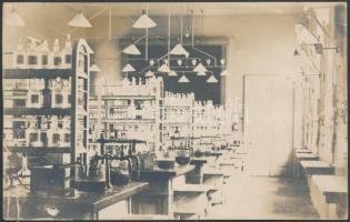 1920 A budapesti Élettani Intézet gyakorlati terme, hátoldalon feliratozva / photo inside the institute of medical physiology in Budapest 9×14 cm