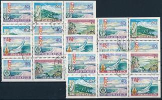 Balaton 4 sheets of stamp-booklet, Balaton bélyegfüzet 4 lapja