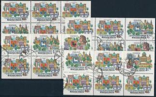 Danube Bend 4 sheets of stamp-booklet, Dunakanyar bélyegfüzet 4 lapja