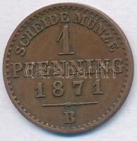 Német Államok / Poroszország 1871B 1pf Cu I. Vilmos T:2 German States / Prussia 1871B 1 Pfennig Cu Wilhelm I C:XF Krause KM#480