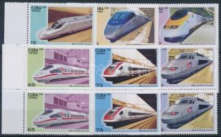 Skytrain margin set in pairs, Magas vasút sor ívszéli párokban