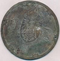 Német Államok / Poroszország ~1880-1890. Fém plakett (100mm) T:3 patina, fo. German States / Prussia ~1880-1890. Metal plaque (100mm) C:F patina, spotted