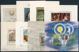 Románia 1965-1987 8 klf blokk, közte 6 festmény