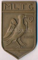 Forgács Hann Erzsébet (1897-1954) 1935. MLTC / III. díj 1935 Br plakett (59x35mm) T:2 HPII 942.