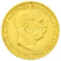 Ausztria 1912. 10K Au Ferenc József utánveret (3,36g/0.900) T:1-,2  Austria 1912. 10 Corona Au Franz Joseph restrike (3,36g/0.900) C:XF Krause 2816.