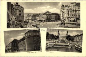 Pécs, Széchenyi tér, Nagy Lajos gimnázium, székesegyház