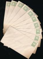 1878 3kr díjjegyes boríték V. vízjellel, 10 db használatlan (150.000)