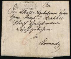 1835 Portós levél ,,R:SZOMBATH