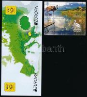 Europa CEPT, Environmental Awareness set corner block of 4 + stamp booklet, Europa CEPT, Környezettudatosság sor ívsarki 4-es tömbökben + bélyegfüzet