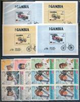Comore-szigetek, Gambia, Jemen, Ajman, St. Vincent Autóversenyzők, autók sorok és blokkok 3 db berakólapon (Mi EUR ~400,-)