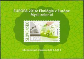Europa CEPT, Környezettudatosság öntapadós bélyegfüzet, Europa CEPT, Environmental Awareness self-adhesive stamp-booklet