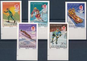 1991 Téli olimpia (IX.) vágott ívszéli sor (5.000)