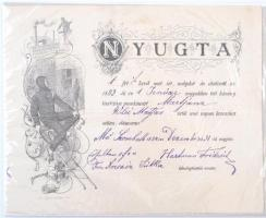 1883 Díszes kéményseprő nyugta / Chimneysweep invoice, Muraszombat/Murska Sobota.
