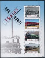 Trains minisheet, Vonatok kisív
