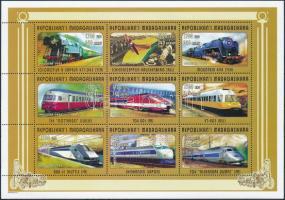 Trains minisheet Vonatok kisív