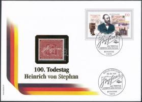 Heinrich v. Stephan FDC, with Mi 227, Heinrich v. Stephan ablakos FDC, benne Mi 227** postatiszta bélyeg