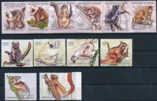 Monkey 12 stamps from set, Majom sor 12 értéke