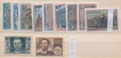 1946-1950 2 db klf sor Mi 1045-1046 + 1450-1458 (Mi EUR 45,-)
