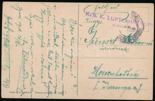 1918 Képeslap / Postcard K.u.k. LUFTFAHRTRUPPEN FLIEGERETAPPENPARK 2.