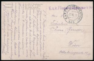 1917 Képeslap / Postcard K.u.k. Fliegeretappenpark Nr ... + EP 185