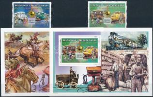 UPU 2 stamps + 2 blocks, UPU 2 érték + 2 klf blokk