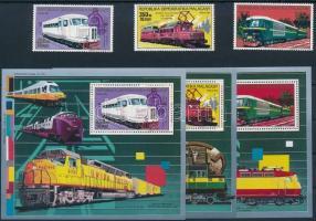 Cars and trains 3 stamps + 3 blocks Autók és vonatok 3 érték + 3 blokk